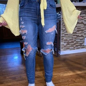 American Eagle high rise stretchy jeans